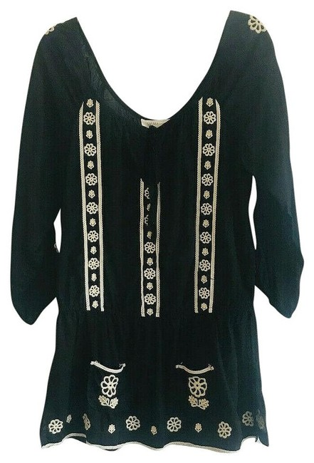 Item - Black White Embroidery M By Lilka Tunic Size 8 (M)