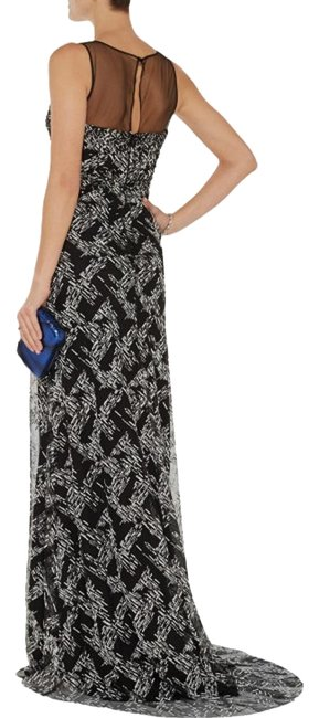 Item - Black Collection Beaded Crosshatch Gown Long Formal Dress Size 6 (S)