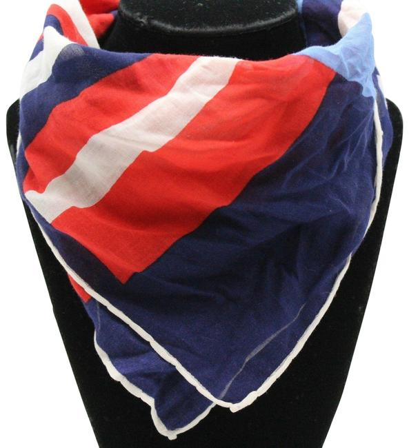 Item - Red White & Blue Print Scarf/Wrap