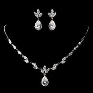 Elegance By Carbonneau Dainty Rhodium Plated Cz Jewelry