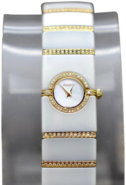 Rado White Gold W Women's Diastar Ceramic 18k W/ Diamonds Watch Rado White Gold W Women's Diastar Ceramic 18k W/ Diamonds Watch Image 1
