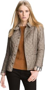 Burberry Quilted Nova Check Fawn Jacket