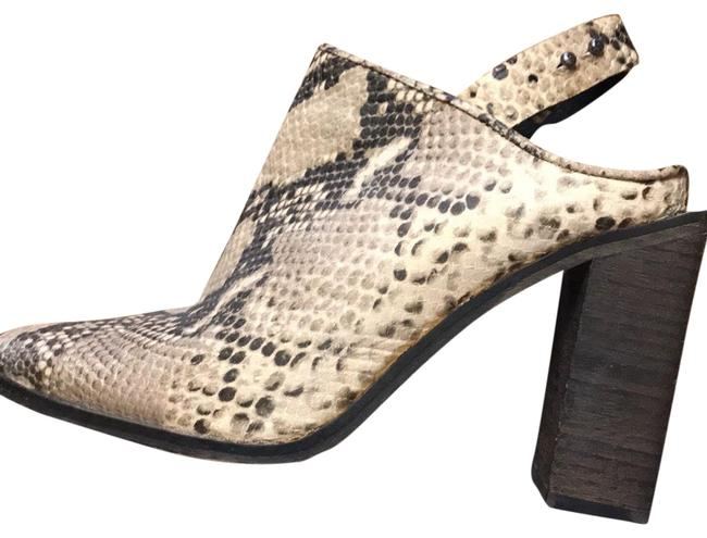Item - Tan and Brown Silver Storm Python Booties Mules/Slides Size US 8 Regular (M, B)