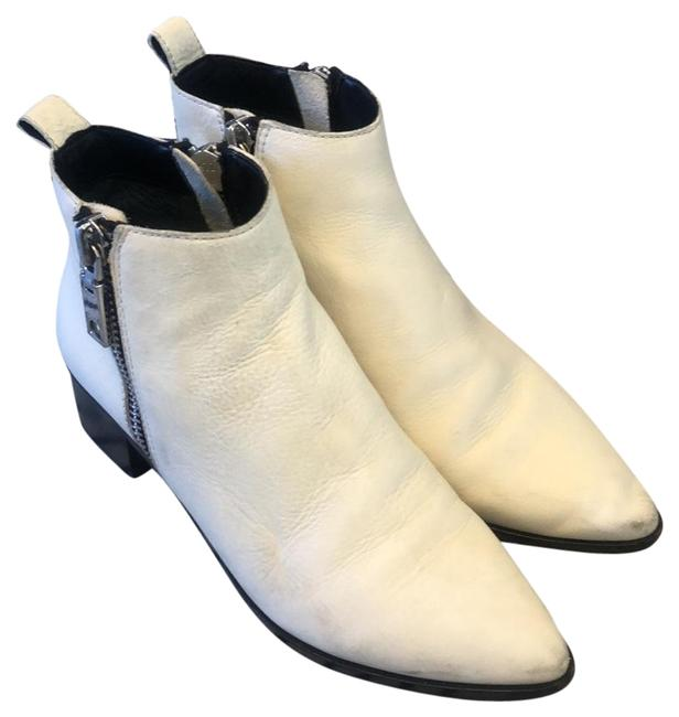 Item - White Double Zip Ankle Boots/Booties Size US 7.5 Regular (M, B)