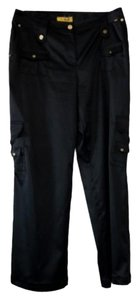 St. John Trouser Pants Black Gold