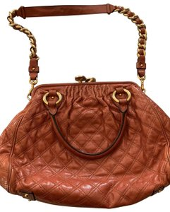 Marc Jacobs Satchel in rust colored quilted leather