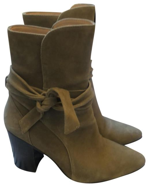 Item - Olive Green Suede Ankle Boots/Booties Size US 7.5 Regular (M, B)