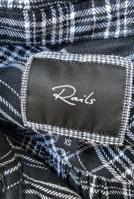 Rails Equipment Joie Plaid Shirt Theory Button Down Shirt black white Image 6
