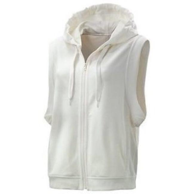 Item - White Hooded Activewear Outerwear Size 8 (M)