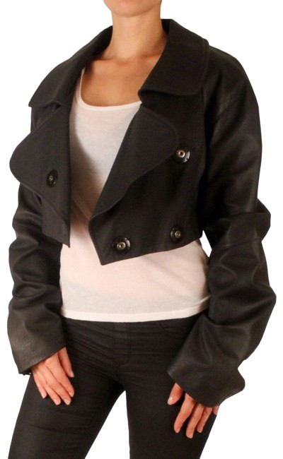 Item - Black Collection Cropped Jacket Size 6 (S)