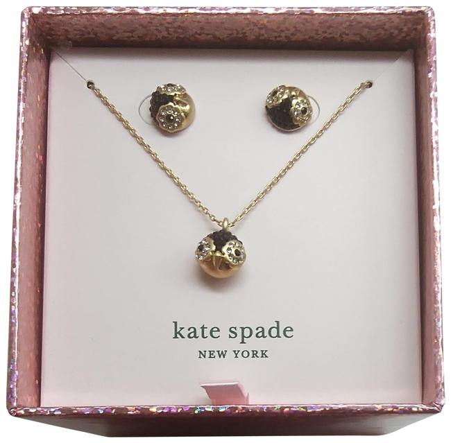 Kate Spade Black New Penguin Necklace and Earrings Kate Spade Black New Penguin Necklace and Earrings Image 1