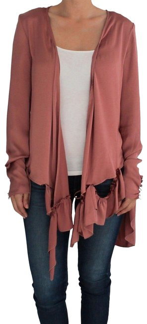 Item - Pink Silk Dusty By Blouse Size 4 (S)