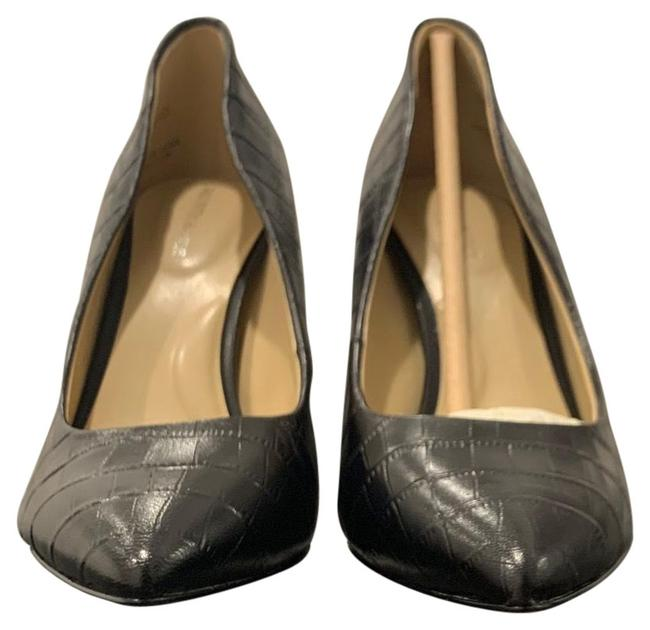 Item - Box New In Ave Black Croc Heels Cady -croc Embossed Leather with Pointed Toe Slip On Style. Pumps Size US 7 Regular (M, B)