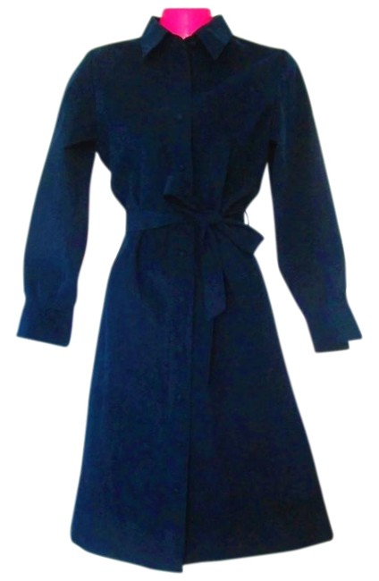 Item - Blue 1970s Vegan Suede Small Mid-length Work/Office Dress Size 4 (S)
