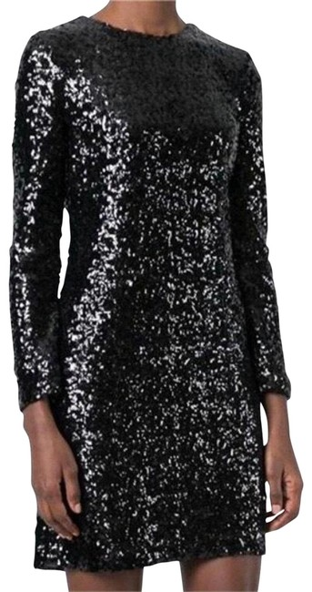 Item - Black Disque' Sequin Sheath Short Night Out Dress Size 12 (L)