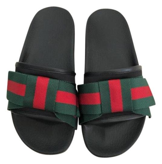 Gucci Black/Red/Green Bow Slides
