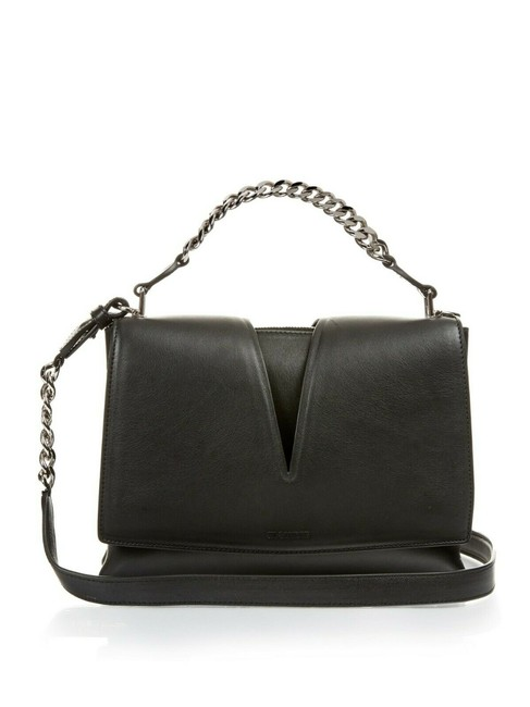 Item - View Chain Purse Black Silver Hardware Leather Cross Body Bag