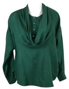 paco rabanne Cowl Pullover Convertible Longsleeve Vintage Top Green