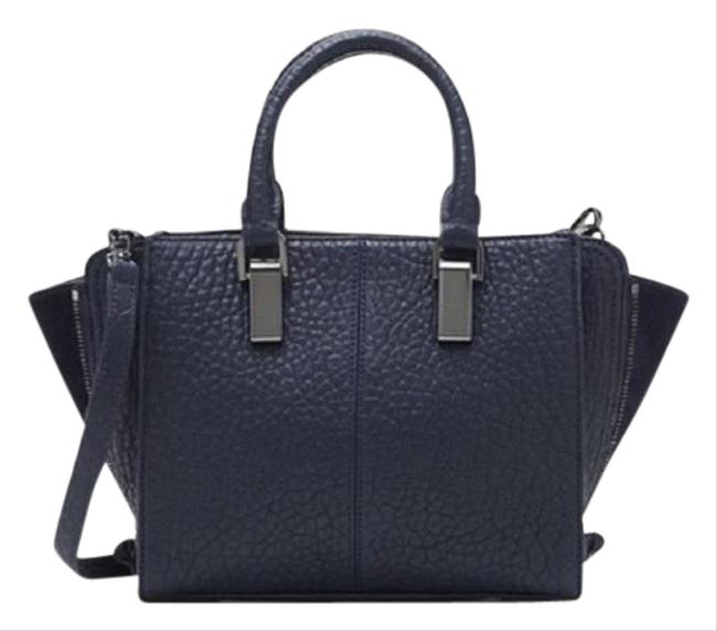 Vince Camuto Riley Small Peacoat/Dk.navy Bubble Lamb Leather Satchel Vince Camuto Riley Small Peacoat/Dk.navy Bubble Lamb Leather Satchel Image 1