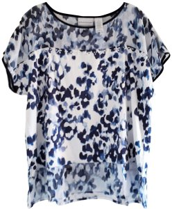 Alfred Dunner Top Blue & White