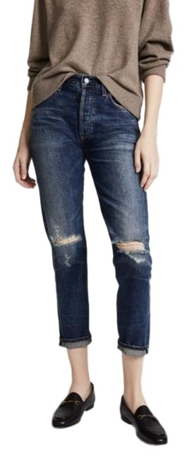 Item - Distressed Liya High Rise Boyfriend Cut Jeans Size 27 (4, S)