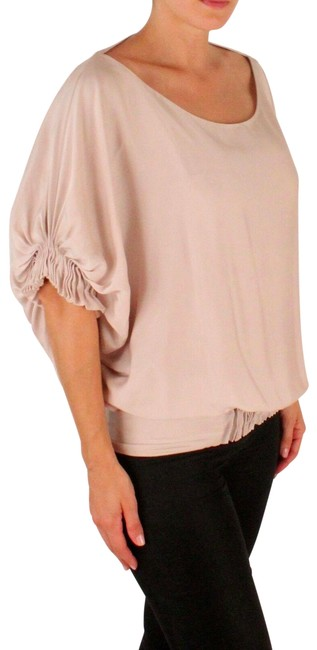 Item - Pink Elegant Butterfly Sleeves Blouse Size 6 (S)