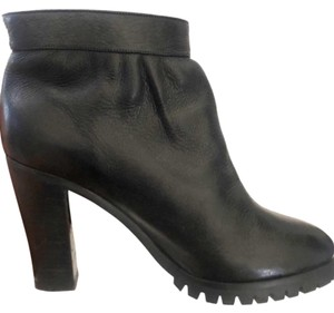 Chloe Ankle Leather Chunky Heels Designer Black Boots