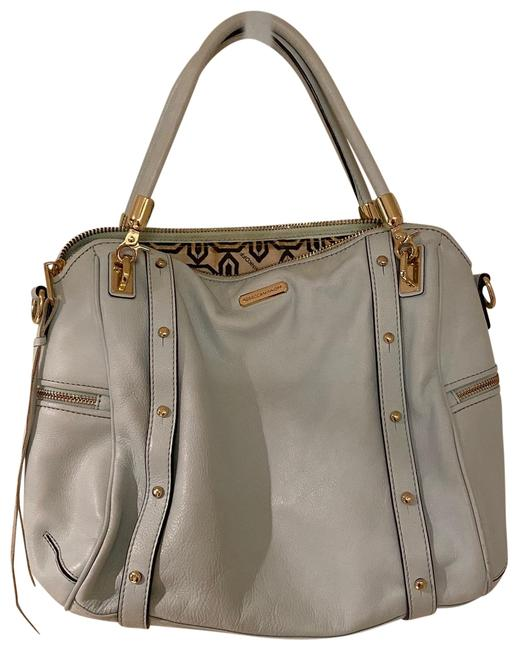 Item - Satchel with Dual Tophandles Light Tiffany Mint Blue W/Gold Hardware Leather Cross Body Bag
