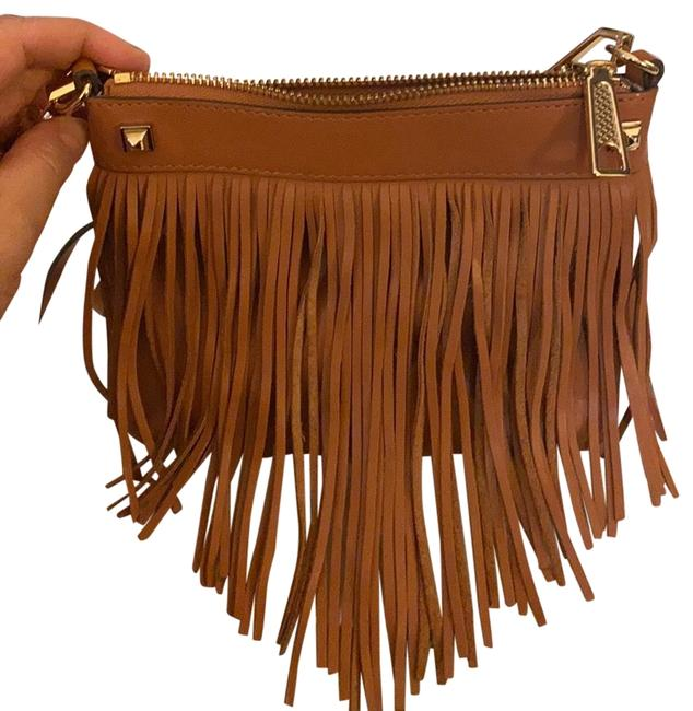 Item - Cross Body with Fringe Camel Leather Messenger Bag