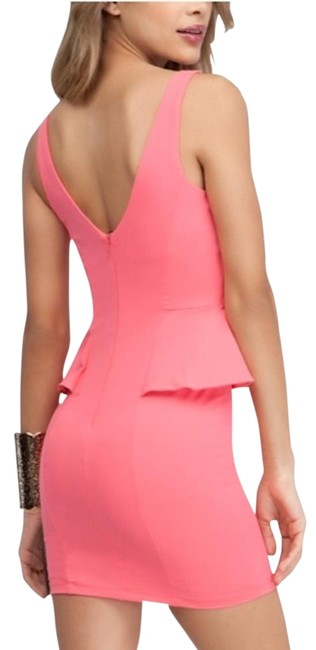 Item - Pink Studded Bodycon Short Casual Dress Size 4 (S)