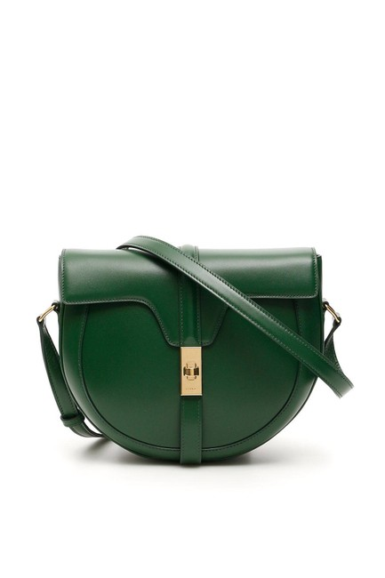 Item - Besace Cr Small 16 Green Leather Shoulder Bag