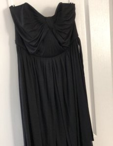 David's Bridal Black Versa Formal Bridesmaid/Mob Dress Size 6 (S)