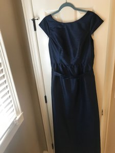 Alfred Sung Navy Polyester Style D569 In Midnight Blue) Formal Bridesmaid/Mob Dress Size 10 (M)