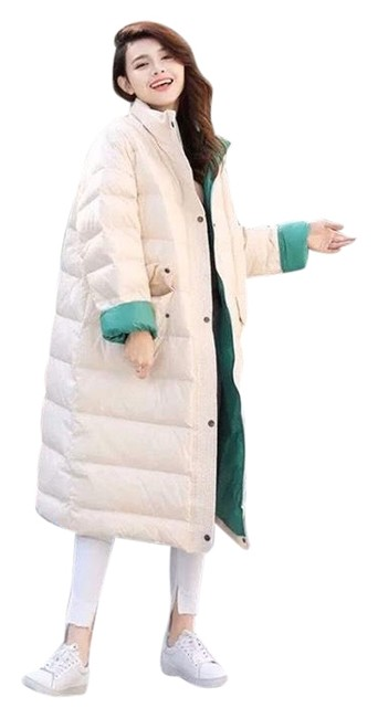 Item - White & Green W W/Green Lining Coat Size 12 (L)
