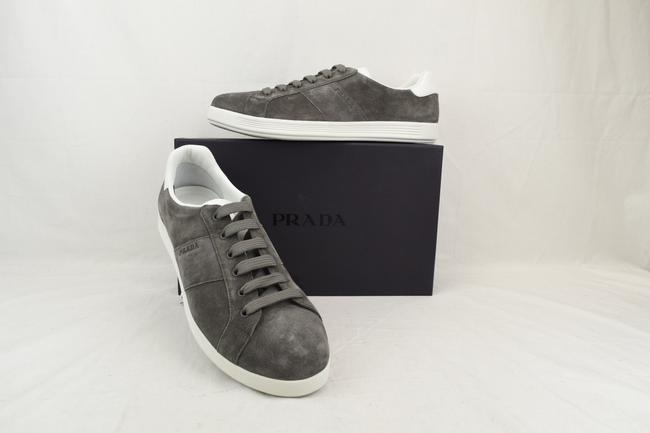Item - Gray 4e3431 Suede White Leather Logo Lace Up Low Top Sneakers 11 Us 12 Shoes