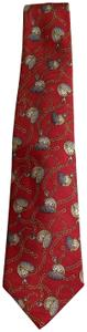 Chanel VINTAGE Authentic Chanel Men's Tie with clock pattern