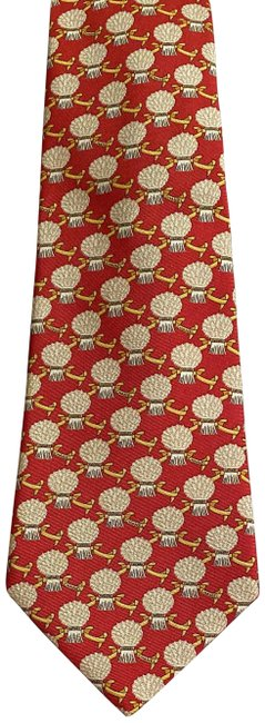 Item - Red Vintage Men's Tie with Pattern Pant Suit Size OS (one size)