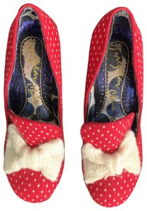 Irregular Choice red and ivory Pumps