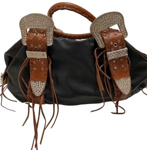 Charm and Luck Satchel in Black