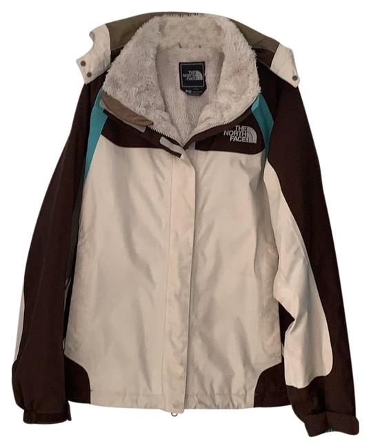 Item - Teal Cream Brown Hyvent Jacket Coat Size 4 (S)