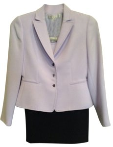 Tahari Tahari Lavender and Black Skirt Suit With Camisole, Size 4P