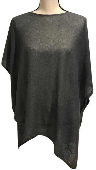Eileen Fisher Gray Ash Cashmere Silk Poncho/Cape Size OS (one size) Eileen Fisher Gray Ash Cashmere Silk Poncho/Cape Size OS (one size) Image 1