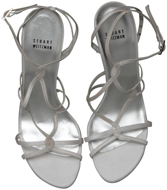 Item - Silver/Gray Strappy Heel Pumps Size US 9 Regular (M, B)