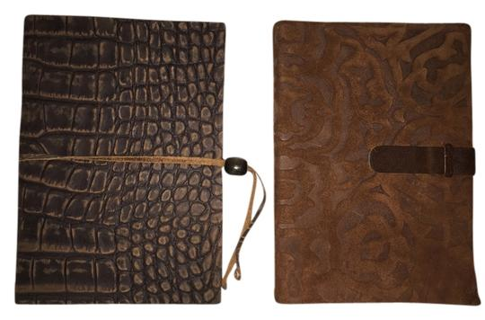 Daisy Arts of Italy 2 Volume Journal Set; Tooled Suede and Crocodile Embossed By Daisy Arts of Italy [ Roxanne Anjou Closet ]