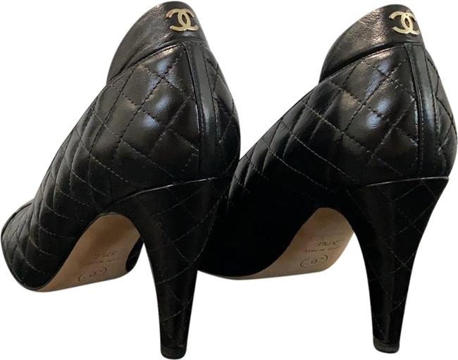 Chanel Black Quilted Pumps Size EU 37.5 (Approx. US 7.5) Regular (M, B) Chanel Black Quilted Pumps Size EU 37.5 (Approx. US 7.5) Regular (M, B) Image 1