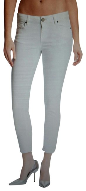 Item - Optic White Light Wash Kylie Crop #219181 Skinny Jeans Size 26 (2, XS)