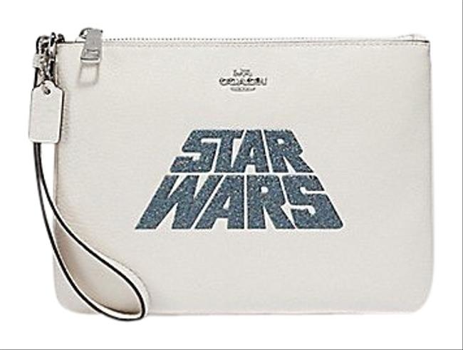Item - Large Star Wars X Glitter Pouch White Leather Wristlet