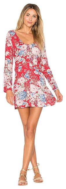 Item - Red Alice Sleeved Short Casual Dress Size 4 (S)