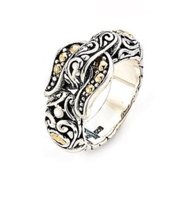 Samuel B. 18K Gold Accented Buckle Band Ring