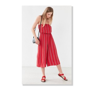 Silence + Noise Strapless Culotte Cropped Summer Festival Dress